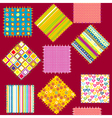 Background with set of colored patterns vector image vector image