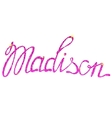 Madison name lettering tinsels vector image