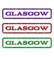 glasgow watermark stamp vector image