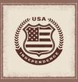vintage independence label vector image