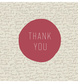 thank you card template vector image vector image