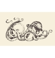 Octopus Vintage  Hand Drawn Sketch vector image