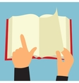 Reading book flat sign vector image
