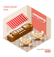 Food court zone vector image