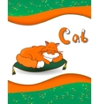 Animal alphabet letter C and cat vector image