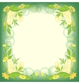 Background leaves flowers vector image