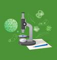 biological examination cartoon style vector image