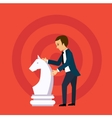 business strategy concept in flat style vector image