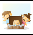 Cute family portrait Happy family background 4 vector image