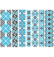 Ethnic embroidery ornaments seamless pattern vector image