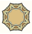 Ethnic round mandala ornamental frame abstract vector image