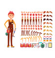 female technician cartoon character woman vector image