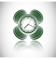 green clock vector image
