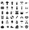 hobby icons set simple style vector image