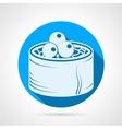 Japanese menu flat round icon vector image