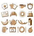 Morning symbol set vector image