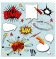 Set of comic elements vector image