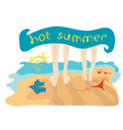 spend the hot summer together vector image