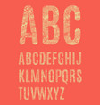 the letters of the latin alphabet vector image