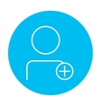 User profile with plus sign line icon vector image