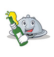 with beer tray character cartoon style vector image