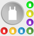 Working vest icon sign Symbol on eight flat vector image