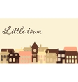 Card with a beautiful little town vector image vector image