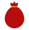 bag santa red isolated icon vector image