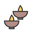 Lighted Bowls vector image
