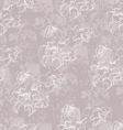 white floral pattern vector image vector image