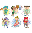 Sporting kids vector image vector image