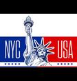 liberty statue usa-nyc 2 vector image