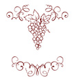 Frame - Grape decoration vector image vector image
