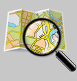 Map booklet with zoom vector image