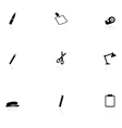 Office supplie icons vector image