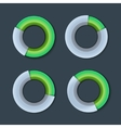 Infographic Chart Ring Diagram Set vector image