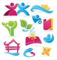 cartoon icons set vector image