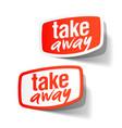 Take Away vector image vector image