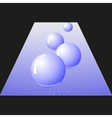 Four glossy ball vector image