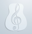 Abstract Guitar and Note Design vector image