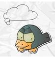 Cartoon birds Paper Background vector image