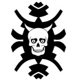 Hipster ornament with horned skull vector image