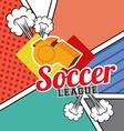 soccer desing vector image