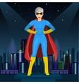 woman dressed in superhero costume vector image