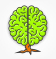 cartoon green brain sign clean vector image