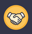 handshake icon deal partnership shaking hands vector image vector image
