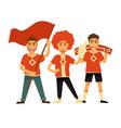 sport club fans soccer or football team flags vector image
