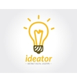 Abstract lamp logo template for branding vector image
