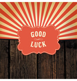 good luck message vector image