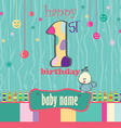 1st birthday Greeting Card vector image